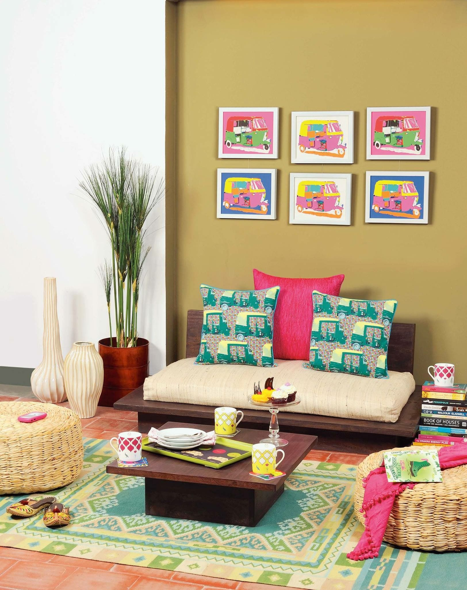 Well there 39 s no doubt prints can pep up any space and for Bharatiya baithak designs living room