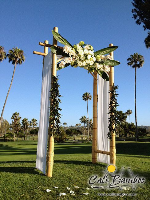 Looking For The Perfect Wedding Arch A Backyard Or Beach Build Your Own Diy Arbor With Bamboo Decorations