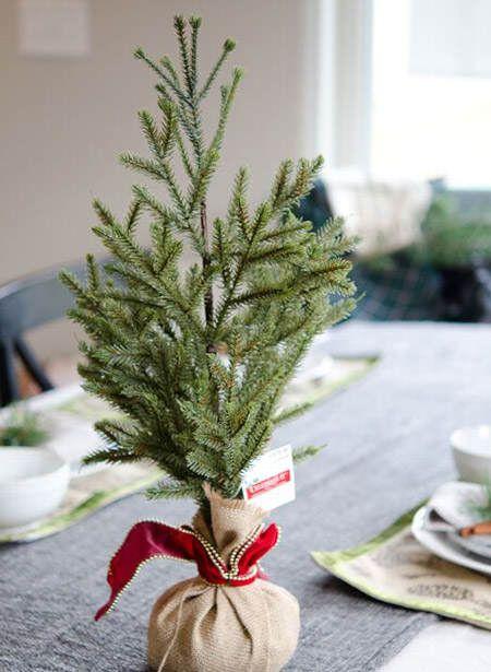 20 ideas originales para centros de mesa navide os ideas - Ideas para arreglos navidenos ...