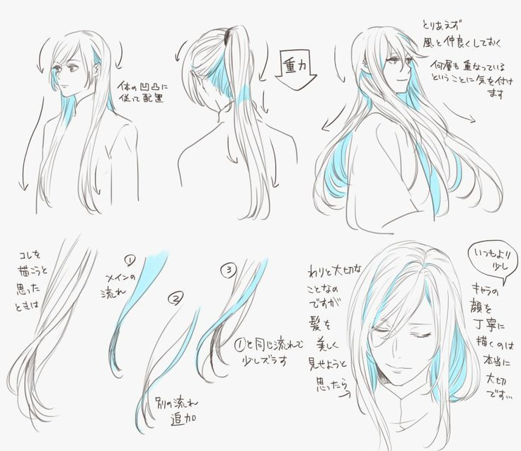 16 Really Long Hairstyles How To Draw Hair Hair Reference Art Reference Poses