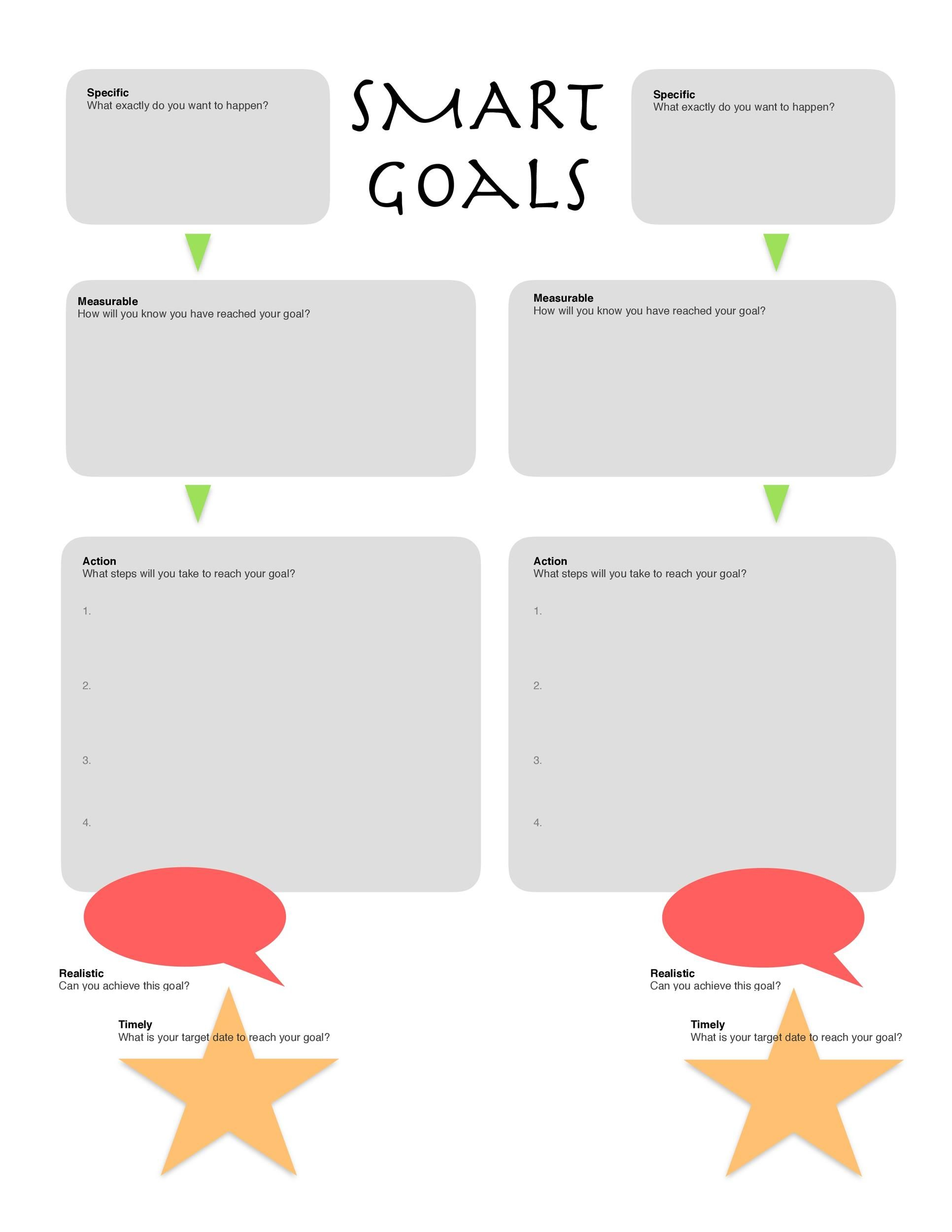 45 Smart Goals Templates Examples Amp Worksheets