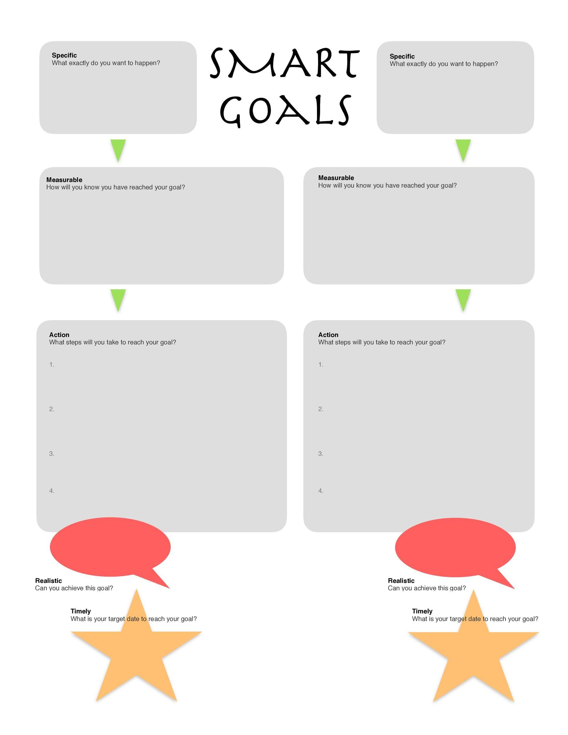 45 Smart Goals Templates Examples Amp Worksheets