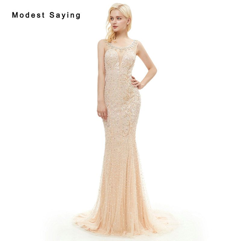 Find More Evening Dresses Information about Luxury Mermaid High ... fcbcb4f0c0ee