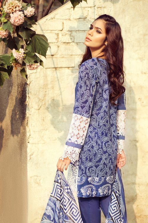 5fbcf59c1b Gul Ahmed 3 Piece Stitched Printed Lawn Dress CL-218 A - Sky Blue -  libasco.com #gulahmed #gulahmeddresses #gulahmedcollection #gulahmed2017  #gulahmedlawn # ...