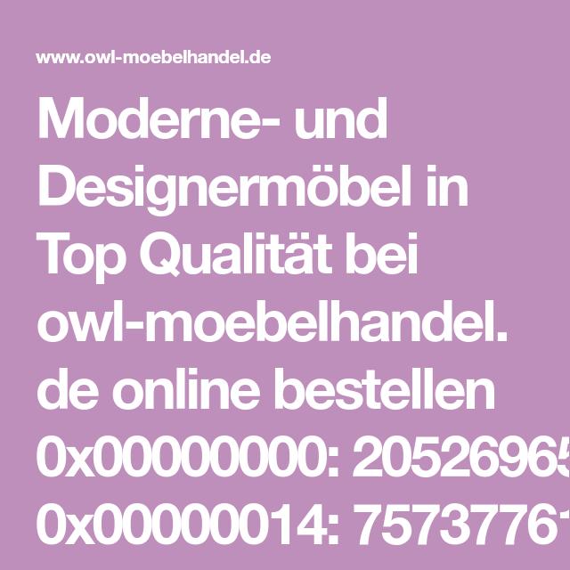 Moderne Und Designermöbel In Top Qualität Bei Owl Moebelhandelde