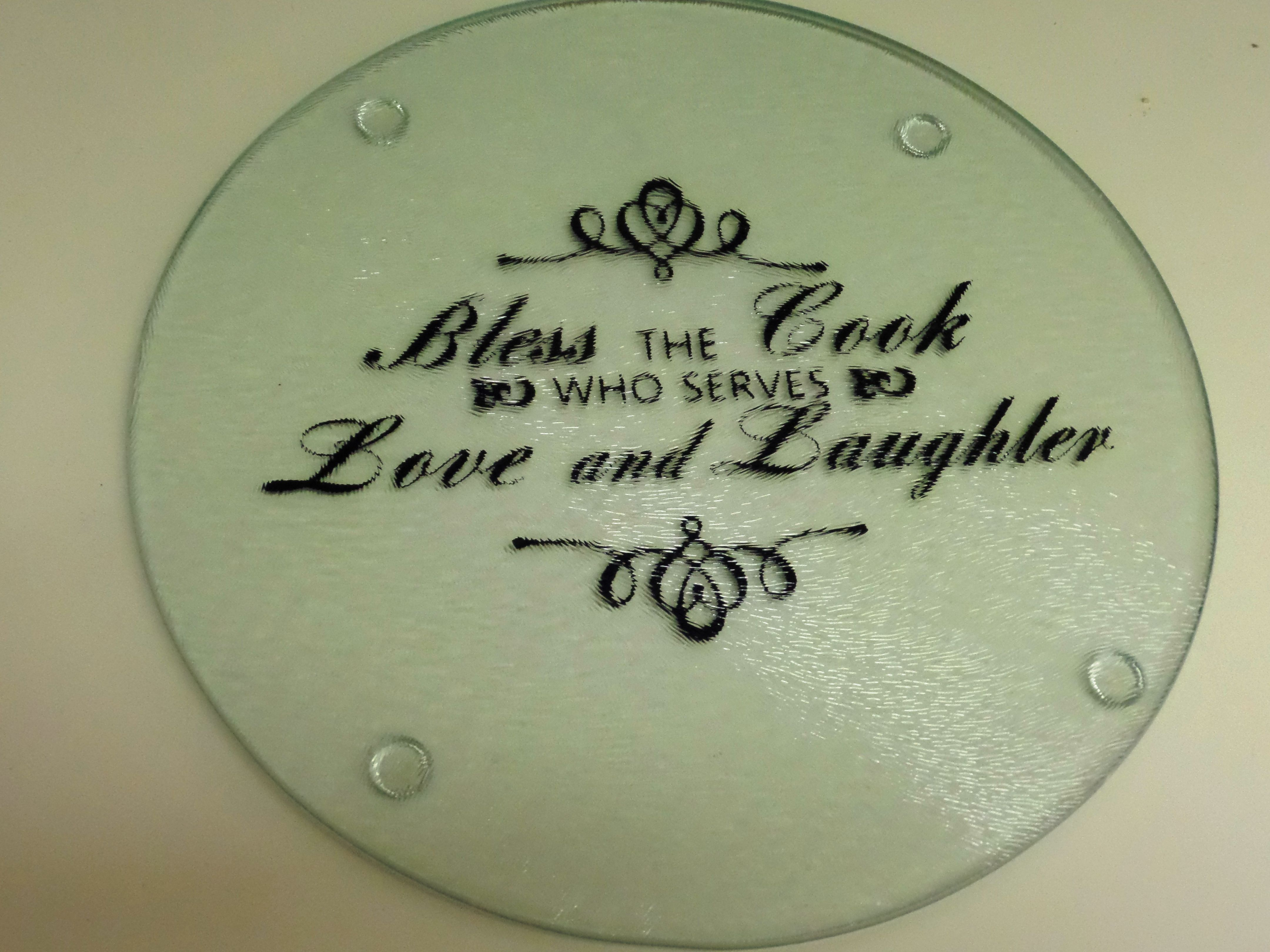 a trivet i made for a friend using vinyl my creations pinterest