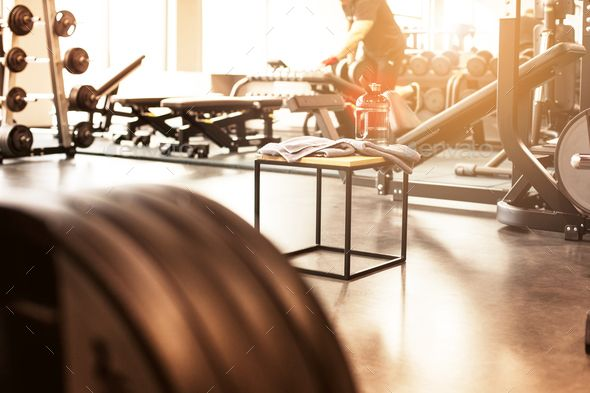 Abstract Blur Fitness Gym Background Gym Interior Gym Workouts Gym