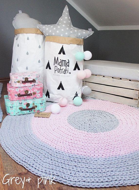 Good Crochet Round Rug Children Crochet Rug Cotton Yarn Rug Mat Teppich KinderRunde