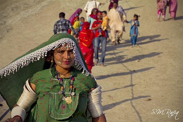 A Sindhi Hindu devotee at