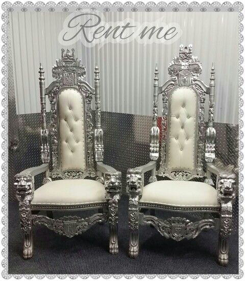 King and Queen chair rentals | kings throne chair ...