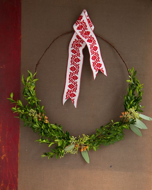 Nordic Inspired Holiday Wreath