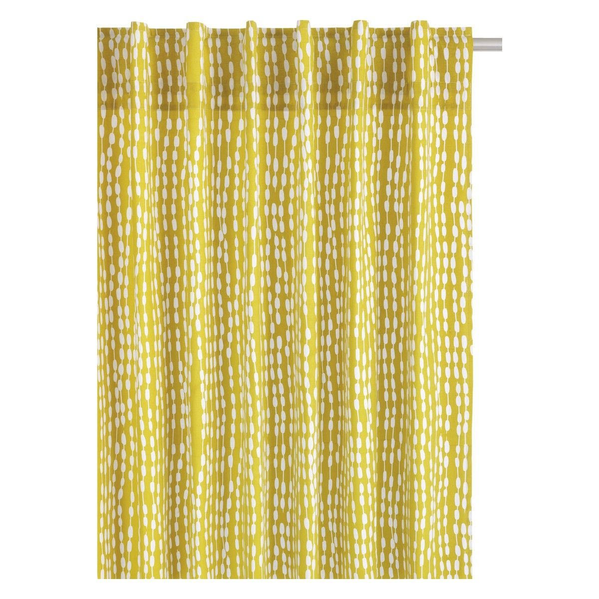 Trene Pair Of Yellow Patterned Curtains 145 X 280cm Buy Now At Habitat Uk Curtain Patterns Yellow Pattern Curtains