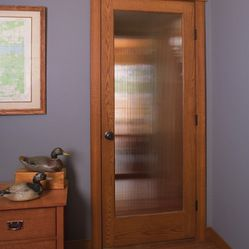 Golden Oak Door With Reed Glass By Homestory Doors Doors Interior Modern Glass Door Doors Interior