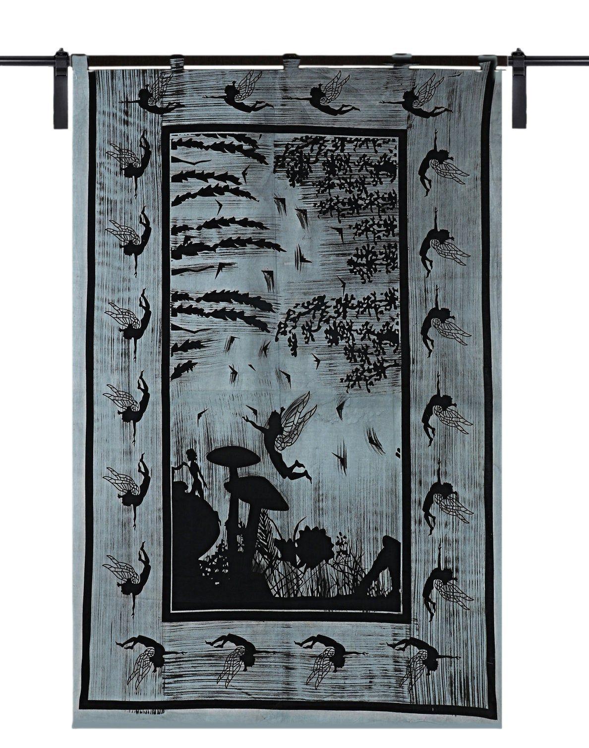 Indian Handmade Door Window Curtains Bohemian Tree Of Life Cotton Mandala Curtain Throw Hippie Boho Drape Panel Wall Hanging Home Decor Art