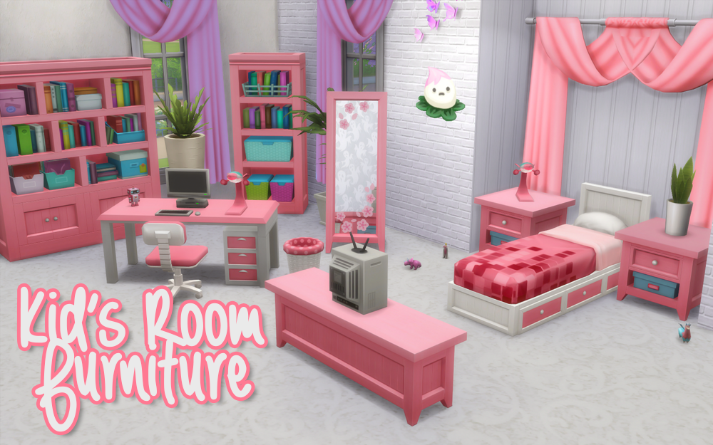 Kid's Room Stuff: Furniture RecolorsHere are some objects from the new Kid's Room Stuff pack. It's not all of the objects that come with the pack, but most of the furniture that I thought could use...