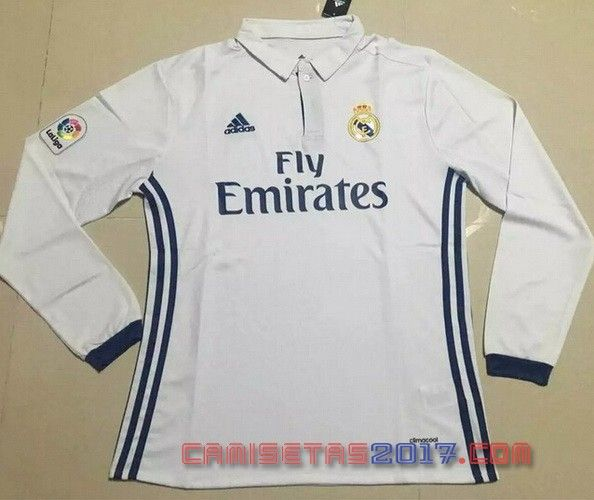 Camiseta manga larga Real Madrid 2016 2017 primera