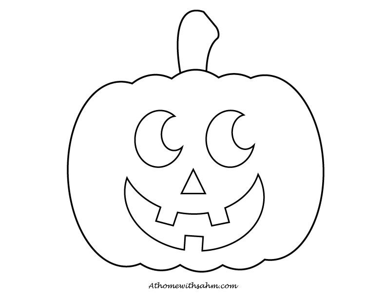 Cute Jack O Lantern Coloring Page Coloring And Printables