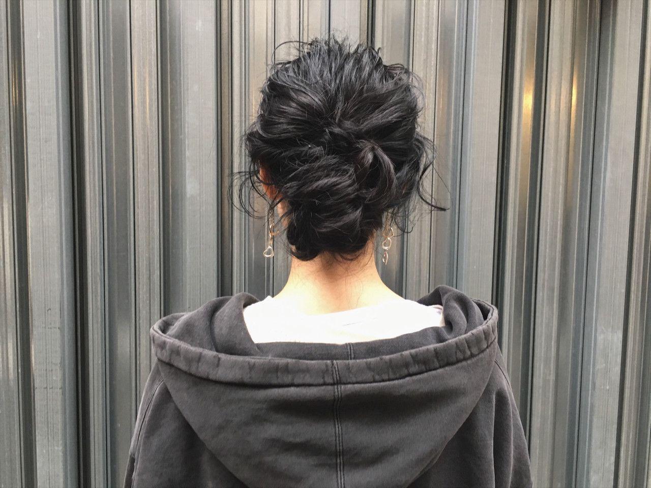 黒髪ストレート ミディアムでモテ度を高めよう おだんごヘア ヘア