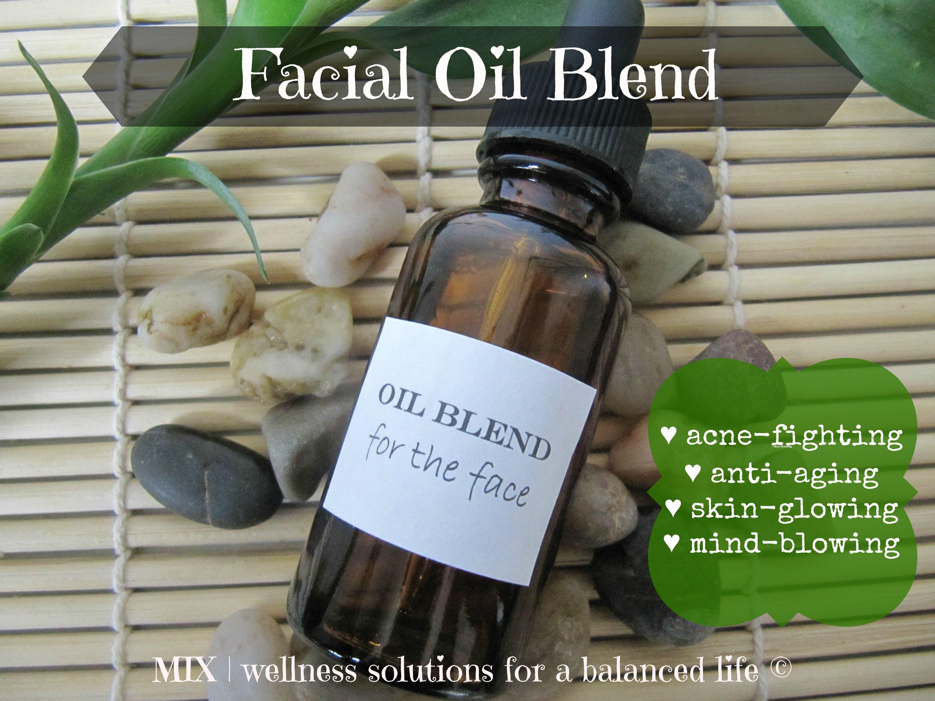Diy Anti Aging Face Serum Recipe Facial Oil Blend Oils Natural Skin Care