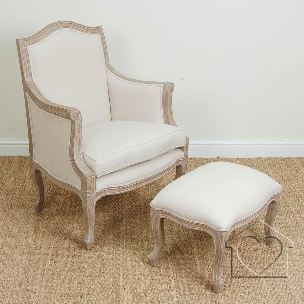 French Shabby Chic Beige Marie Armchair U0026 Footstool   £265.00   A Fantastic  Range Of