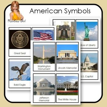 American Symbols Cards Kindergarten Freebies Pinterest