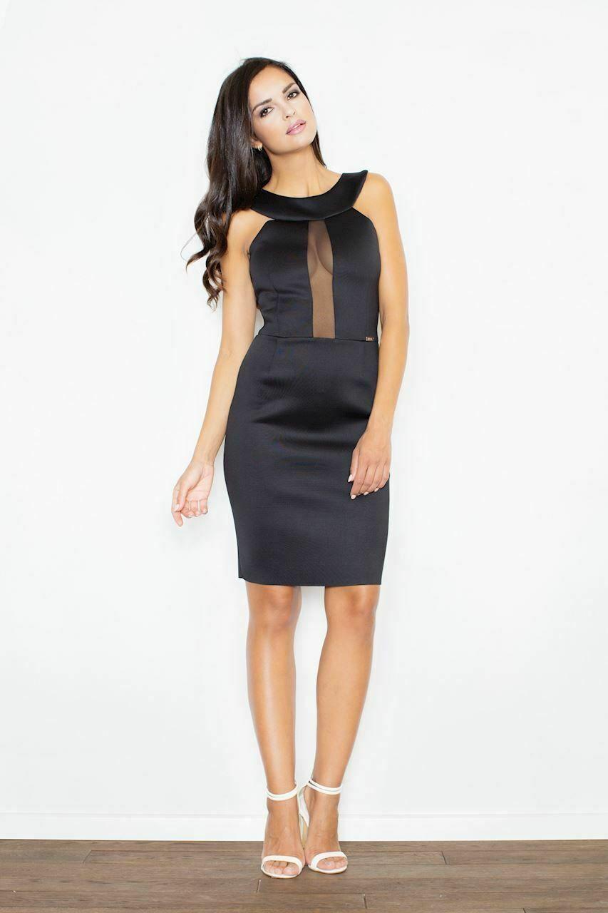 FIGL Damen Kleid Schwarz Schwarzes Kleid Ideen von