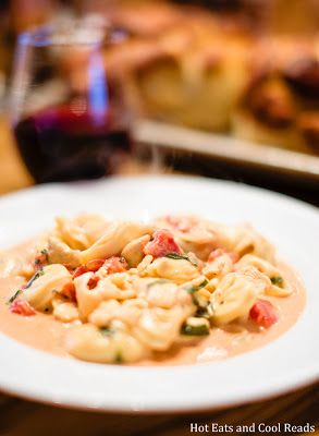 Chicken and Tortellini with Tomato Cream Sauce Recipe