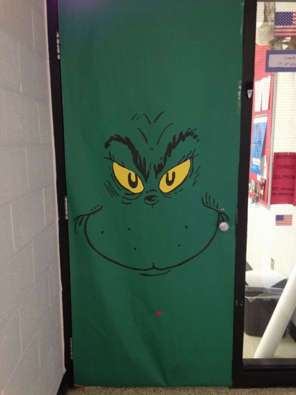Grinch Door & Christmas Door Decorations For Office ...