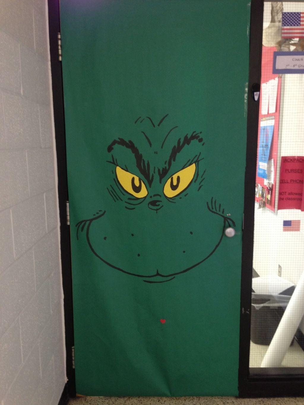 Dr Seuss The Grinch Door Decoration Speech Tx Pinterest