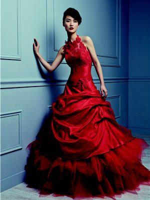 Robes De Mariée Vive La Couleur Robe De Mariee Rouge