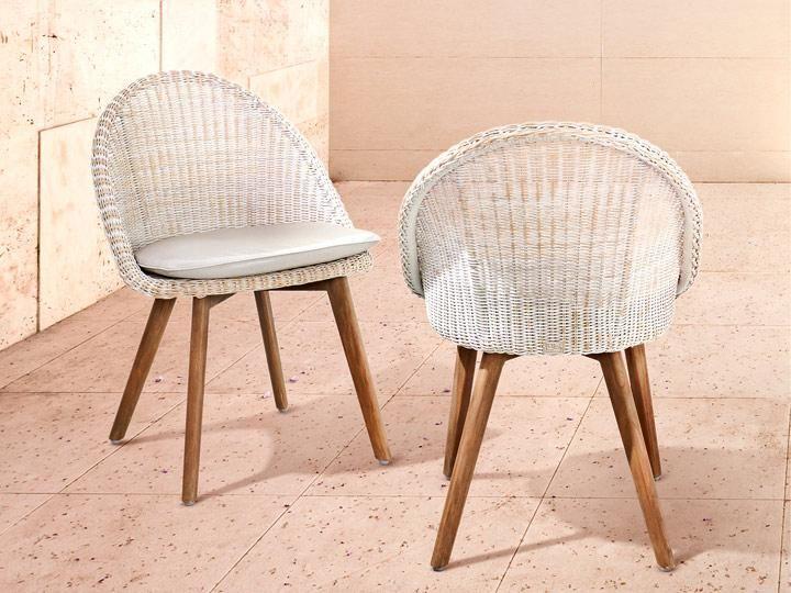 FLEUR Garten Stuhl Poly Rattan Antik Weiß Hochwertige Gartenmöbel Von  Applebee | Desgin Sako Wijma Der