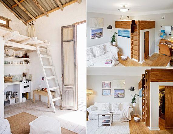 Kleine Wohnung Einrichten Mit Hochbett_kreative Einrichtungsbeispiele Fr  Kleine Schlafzimmer Und 1 Raum Wohnungen   Wohn Und