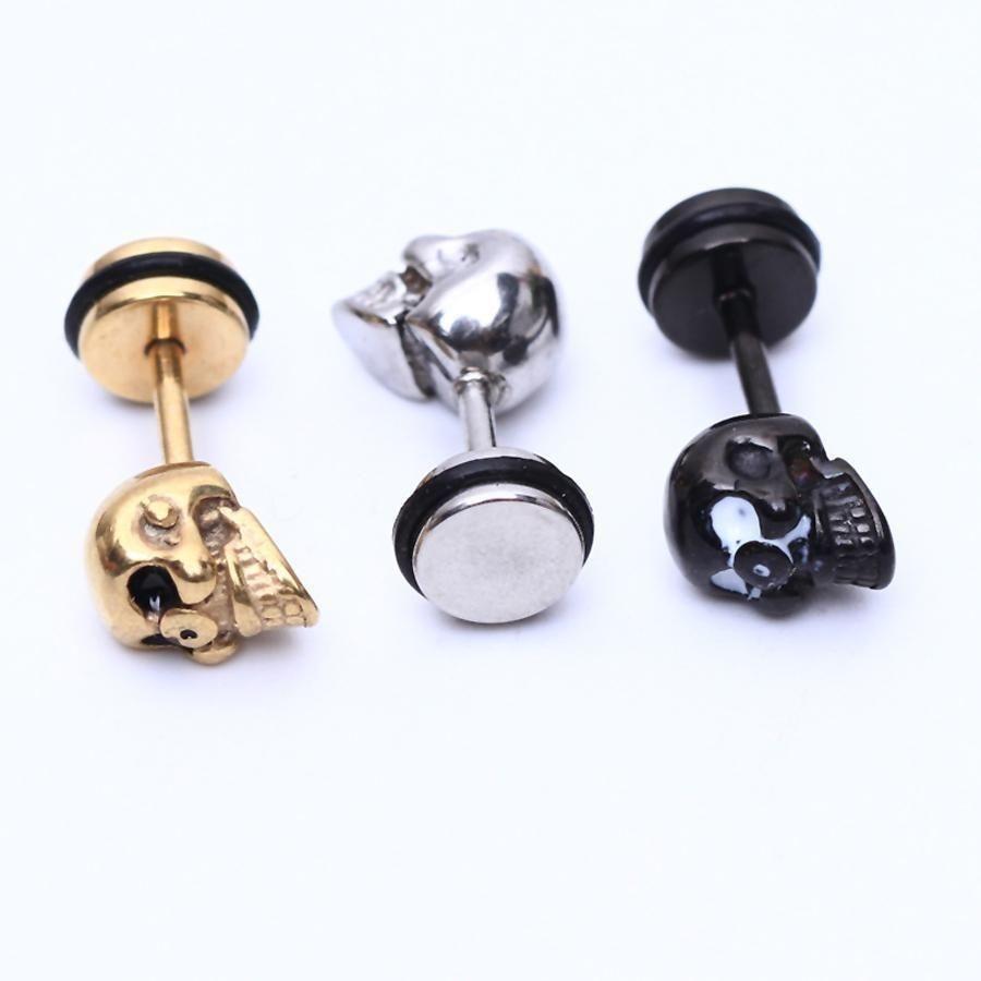 Skull Piercing Stud Earrings Skullflow Https