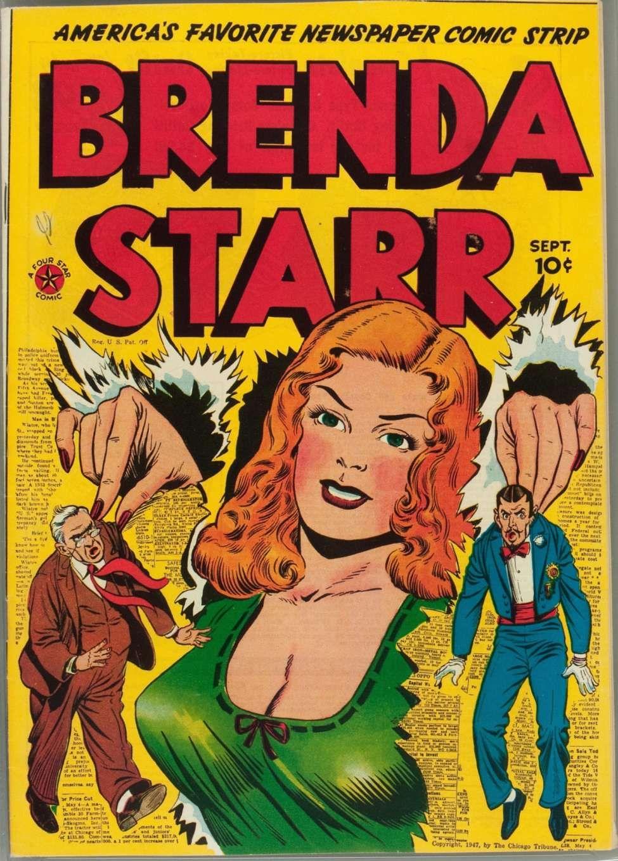 Comic Book Cover For Brenda Starr Comics v1 13 [1] Sept 1947