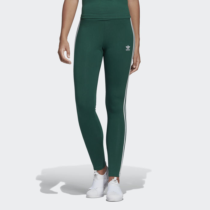 a58433f9a0425 3-Stripes Leggings Green 2XS Womens in 2019   Products   Striped ...