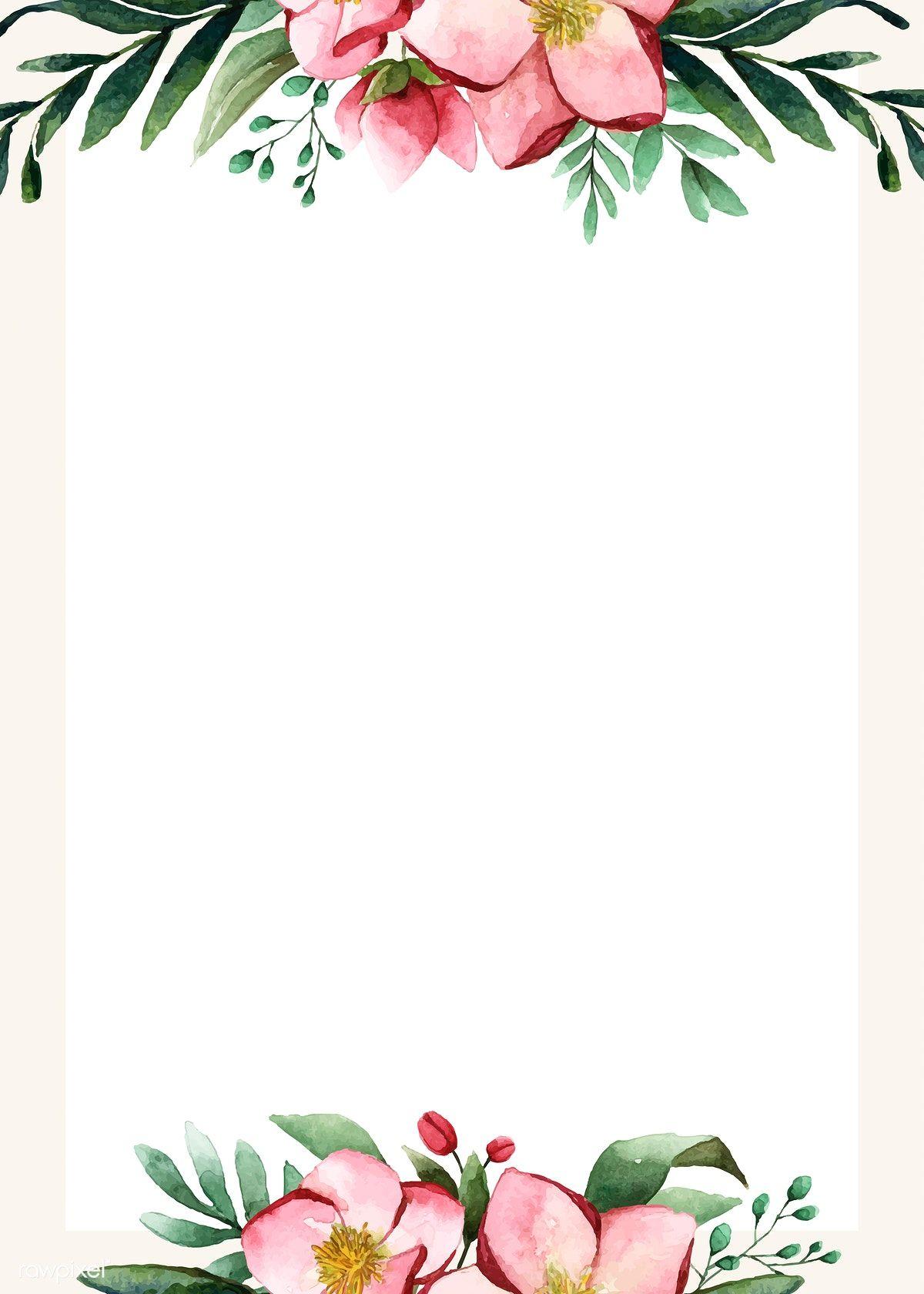 Download premium vector of Flowers invitation card