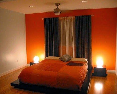 Conceptions chambres à coucher avec l\'orange | idées couleurs ...