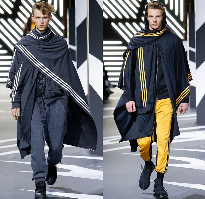 Y-3 Yohji Yamamoto Adidas 2014-2015 Fall Autumn Winter Mens Runway Looks Fashion - Mode à Paris Masculine Fashion Week Défilés - Sportswear ...