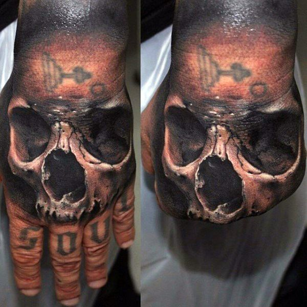 80 Skull Hand Tattoo Designs For Men Manly Ink Ideas Skull Hand Tattoo Hand Tattoos Skull Tattoo Design
