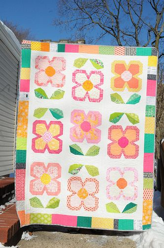 Finished Swedish Bloom Time Quilt From Patchwork Please Flower Quilts Quilts Floral Quilt