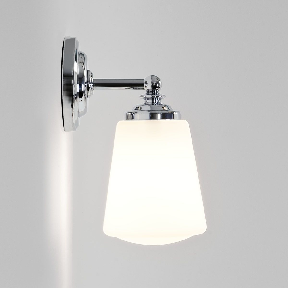 Anton ip44 wall light sydney lighthouse bathrooms pinterest the anton bathroom wall light from astro lighting is finished in polished chrome with a white glass shade a lovely sophisticated fitting for both modern arubaitofo Images