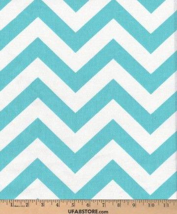 ZIGZ - Girly Blue - Chevron - Fabric
