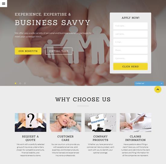 free website template for insurance company  reinsure-finance-insurance-website-template | wfb | Pinterest ...