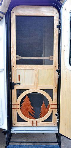 Custom Wood Screen Door Wood Screen Door Custom Screen Doors