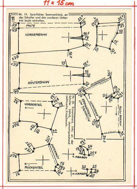 Goldener Schnitt | Schnittmuster 1940 | Pinterest | Goldener schnitt ...