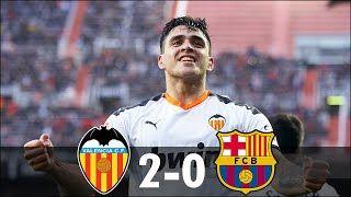 Valencia vs Barcelona 2−0 - All Goals & Highlights - 2020    #Valencia #vs #Barcelona #Highlights