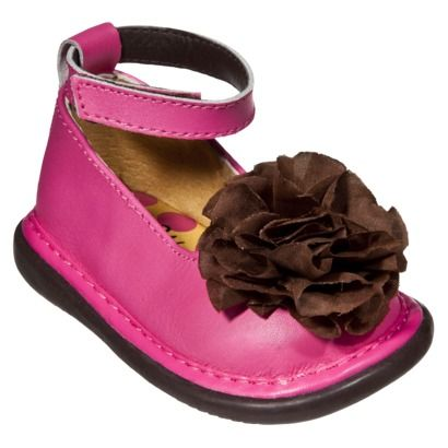 Little Girl's Wee Squeak Ankle Strap Shoe - Hot Pink