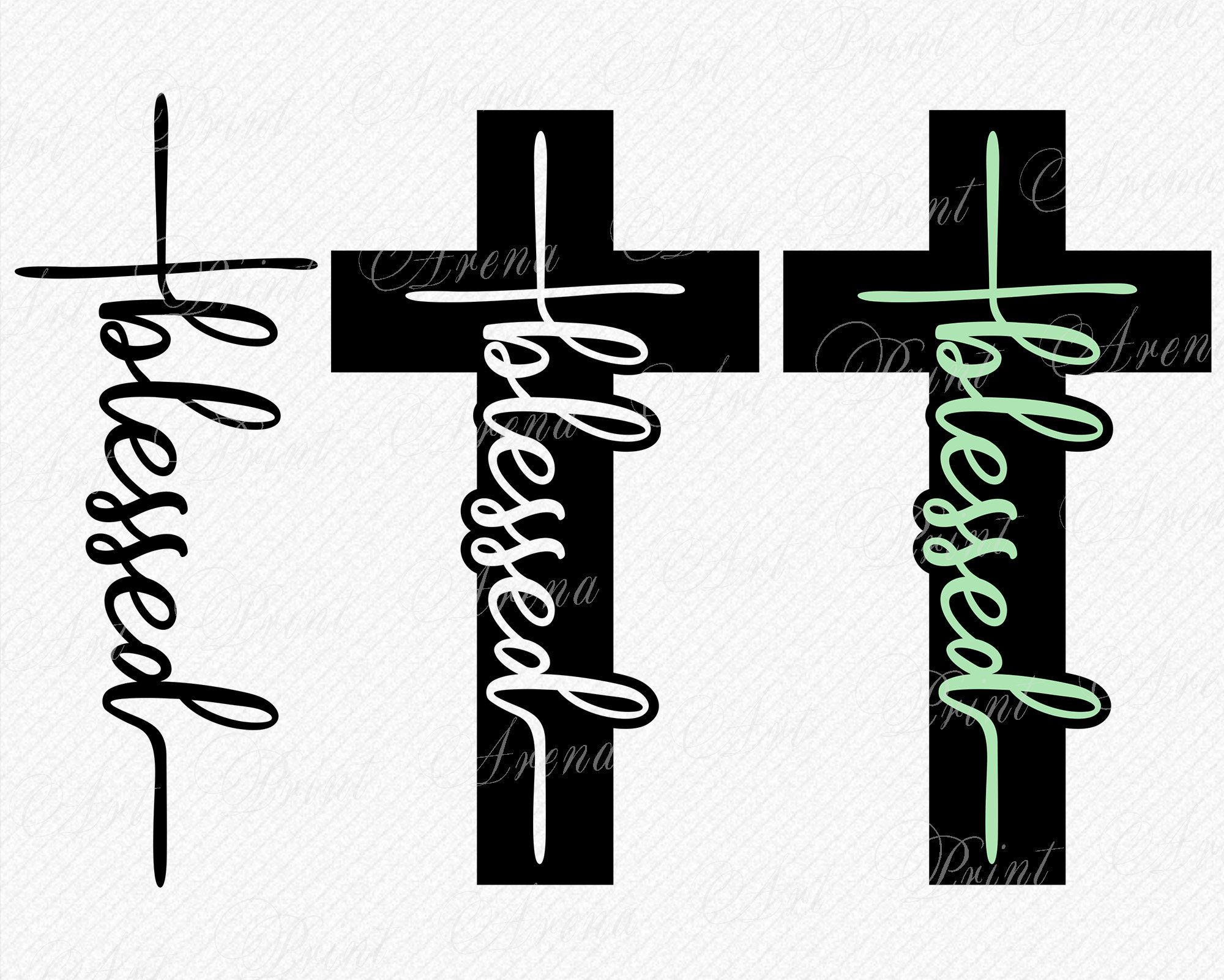 Blessed Cross SVG Blessed cross design Cross designs