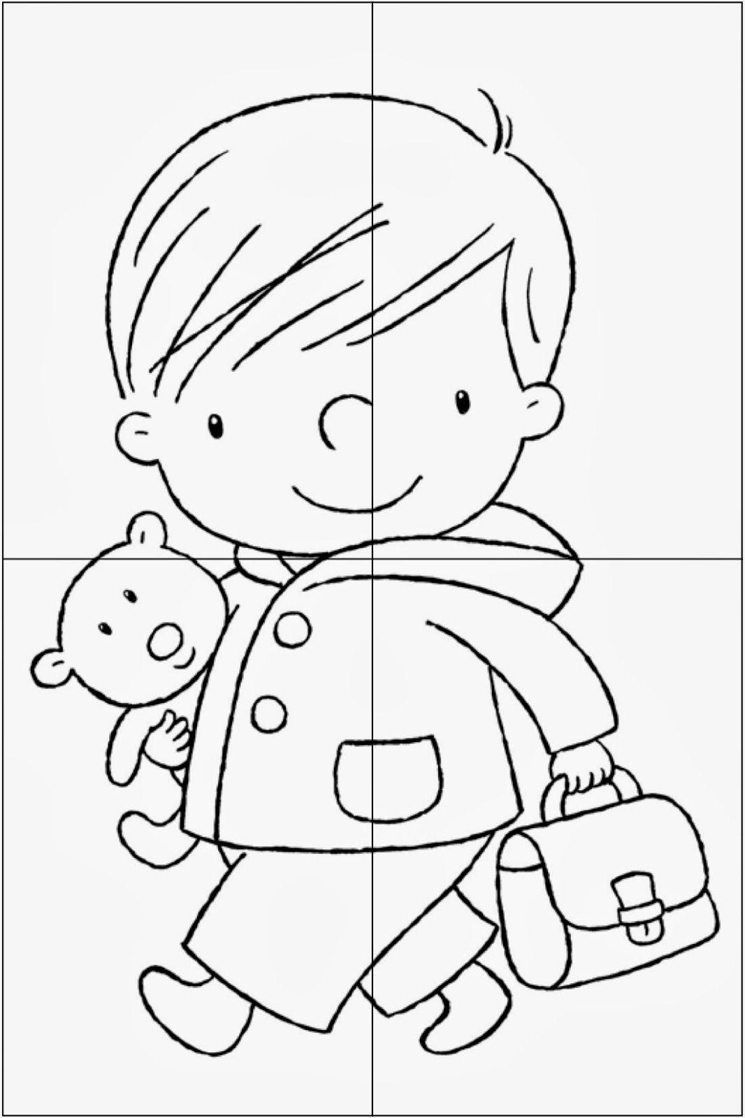 Puzzel Naar School Kopie Jpg 1066 1600 Blog Juf Jessica Puzzle Crafts Preschool Activities Preschool