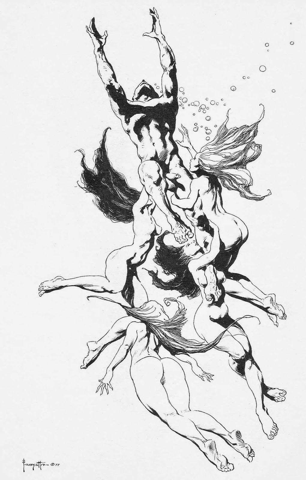 maidens+of+the+deep+1.jpg (1020×1600)   Frazetta   Pinterest   Frank ...
